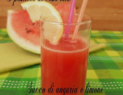 Succo di anguria e limone