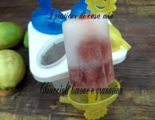 Ghiaccioli limone e granatina