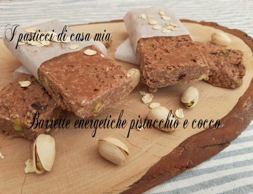 Barrette energetiche pistacchio e cocco