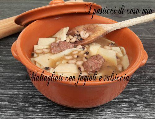 Maltagliati con fagioli e salsiccia