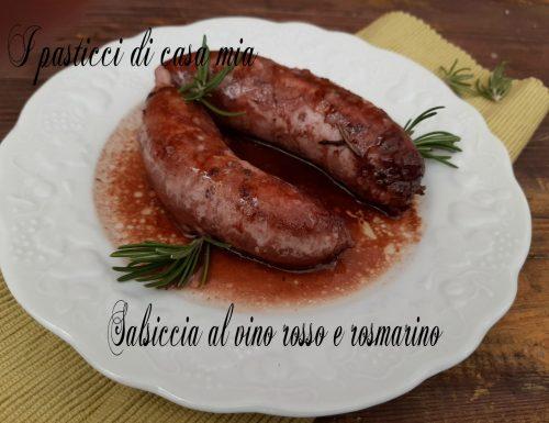 Salsiccia al vino rosso e rosmarino