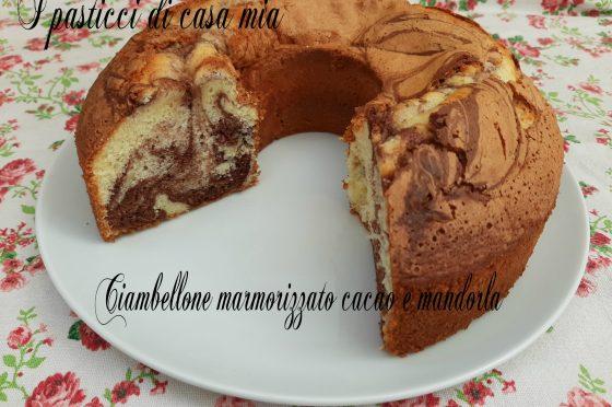 Ciambellone marmorizzato cacao e mandorla