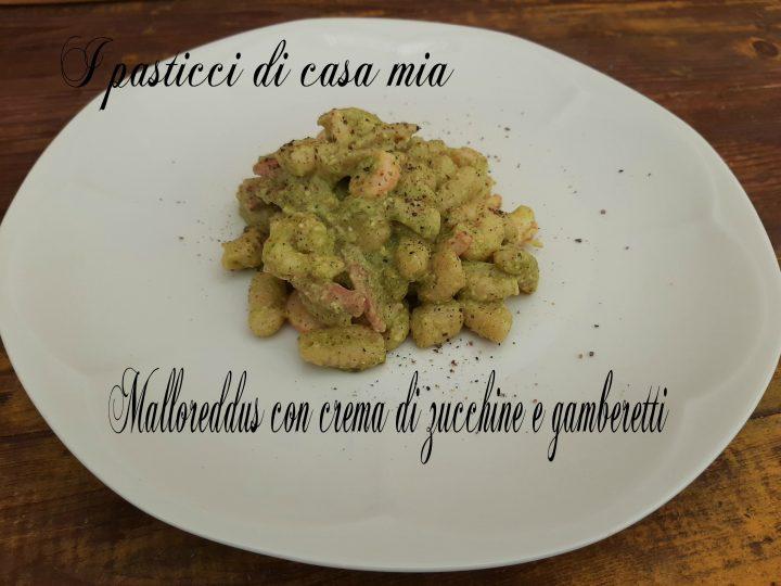 Malloreddus con crema di zucchine e gamberetti