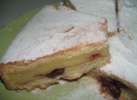 Torta bocconotto crema e amarena