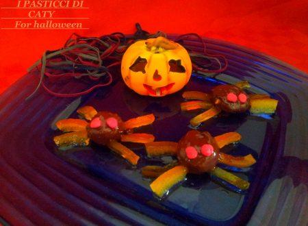 Ragni di cioccolato per halloween