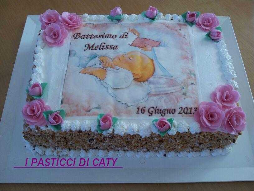 Favoloso Torta per il battesimo di Melissa TQ71