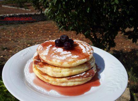 Pancake alle amarene sciroppate