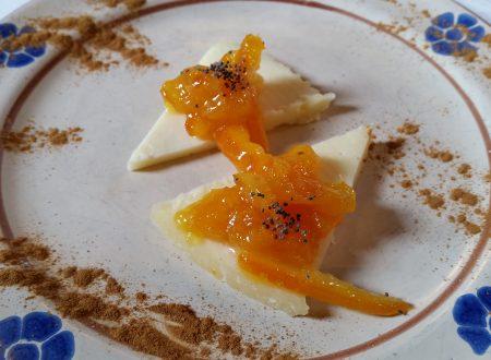 Pecorino con confettura di arance e semi di papavero