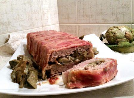 Plumcake di carne pancettato ai carciofi