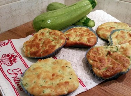 Muffin con zucchine e caciocavallo