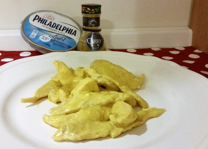 Maltagliati di pollo curry e philadelphia