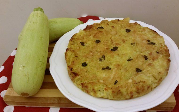 Sformato di zucchine con pancetta e scamorza filante