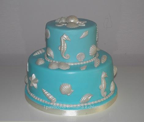 Torta con tema marino in pasta di zucchero for Decorazioni torte tema mare
