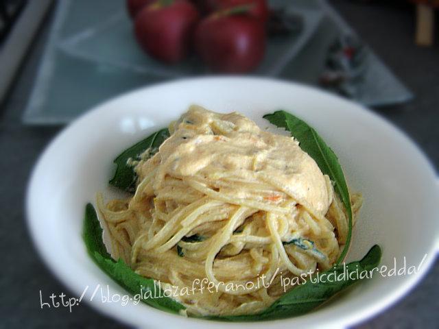 Spaghetti alla crema di ricotta