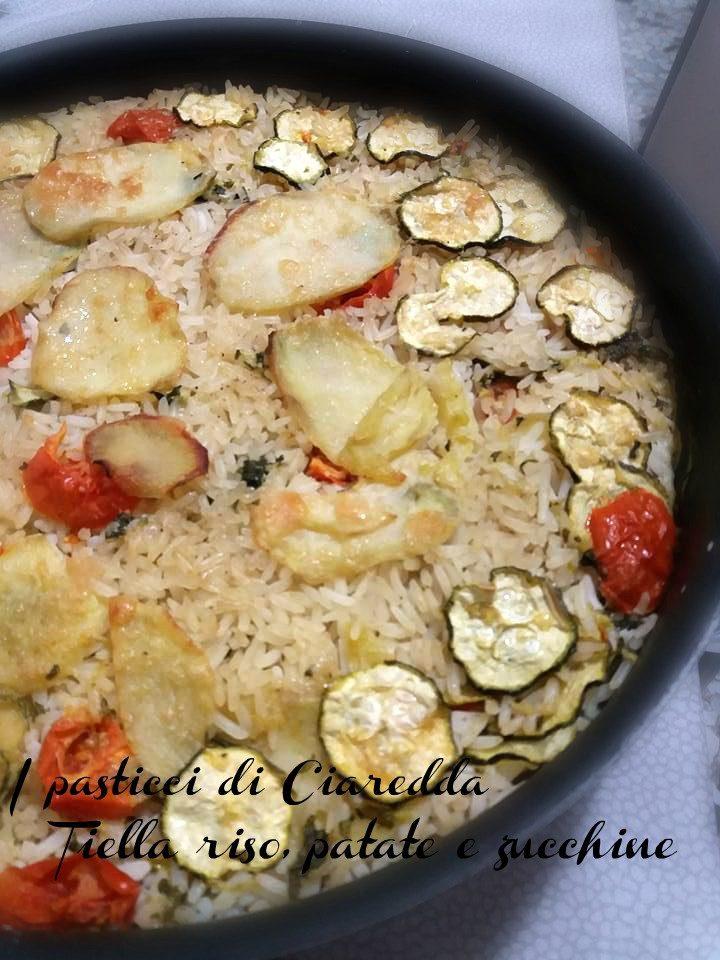 Tiella riso, patate e zucchine