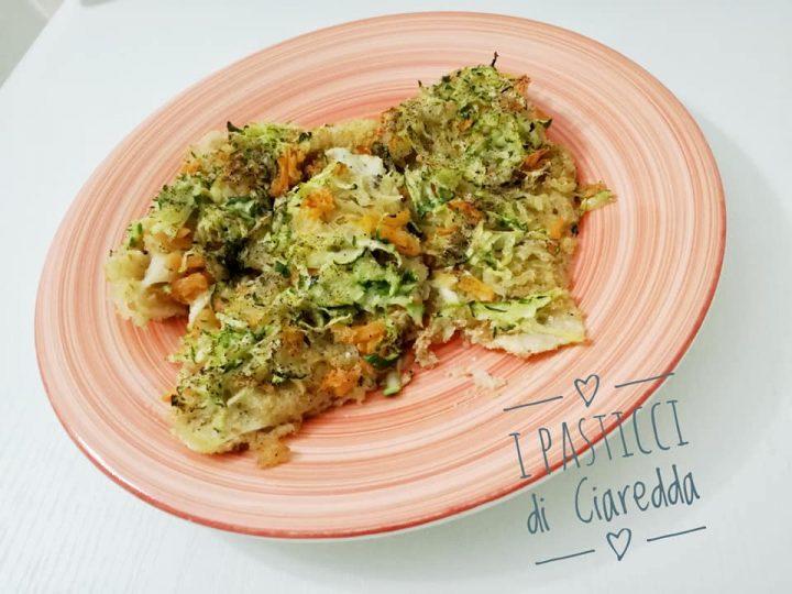 Sogliola con verdure al forno