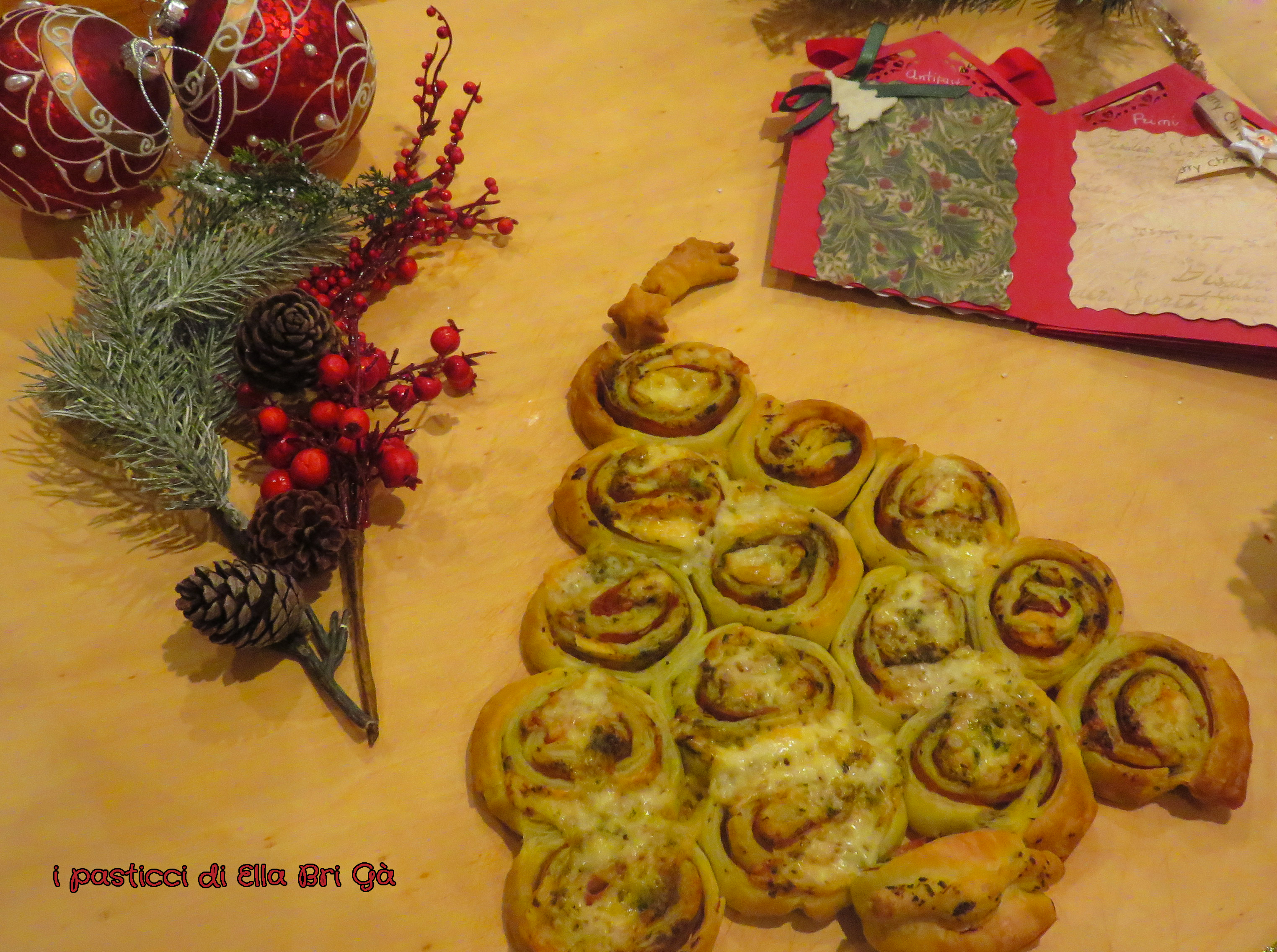 Alberello di Natale in pasta sfoglia