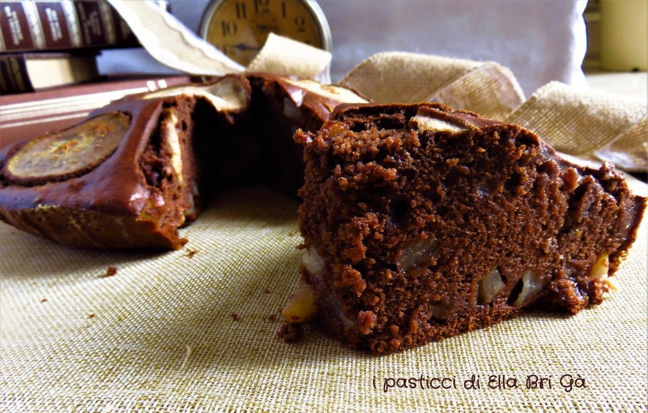 Torta Cioccolato e Pere Vegana/Light  (senza uova, senza latte)