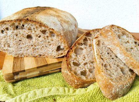 Pane integrale al 50% con lievitazione naturale