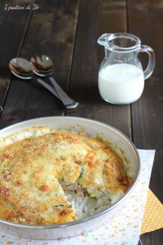 sformato di zucchine,prosciutto cotto e stracchino