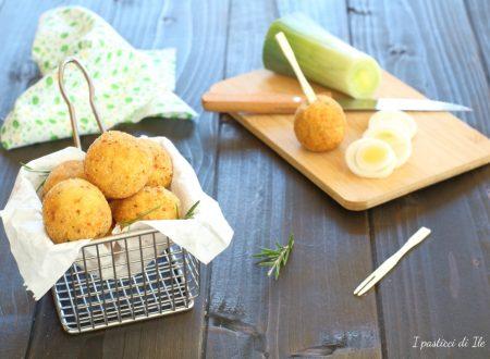 Crocchette di patate e porri