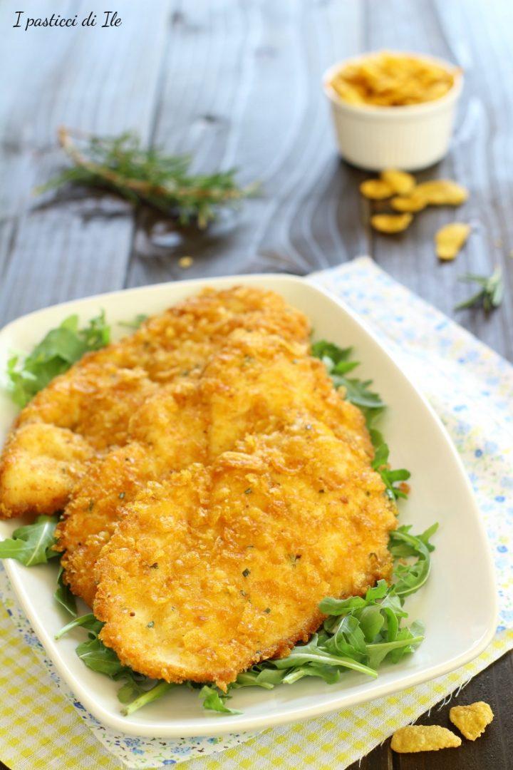 petto di pollo impanato con cornflakes