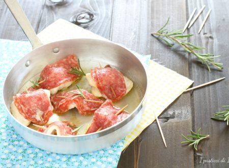 Saltimbocca di pollo e salame