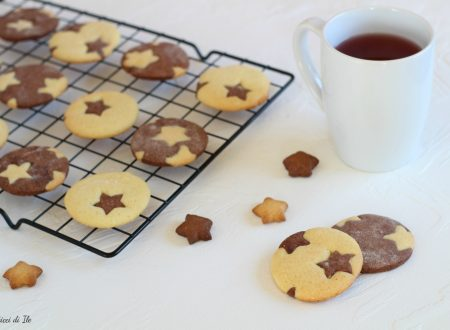 Biscotti bicolore vaniglia, cacao e cannella