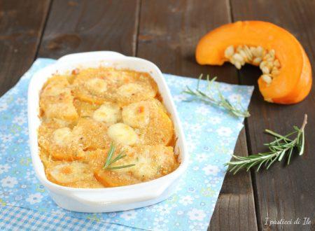 Sformato di zucca, patate e mozzarella