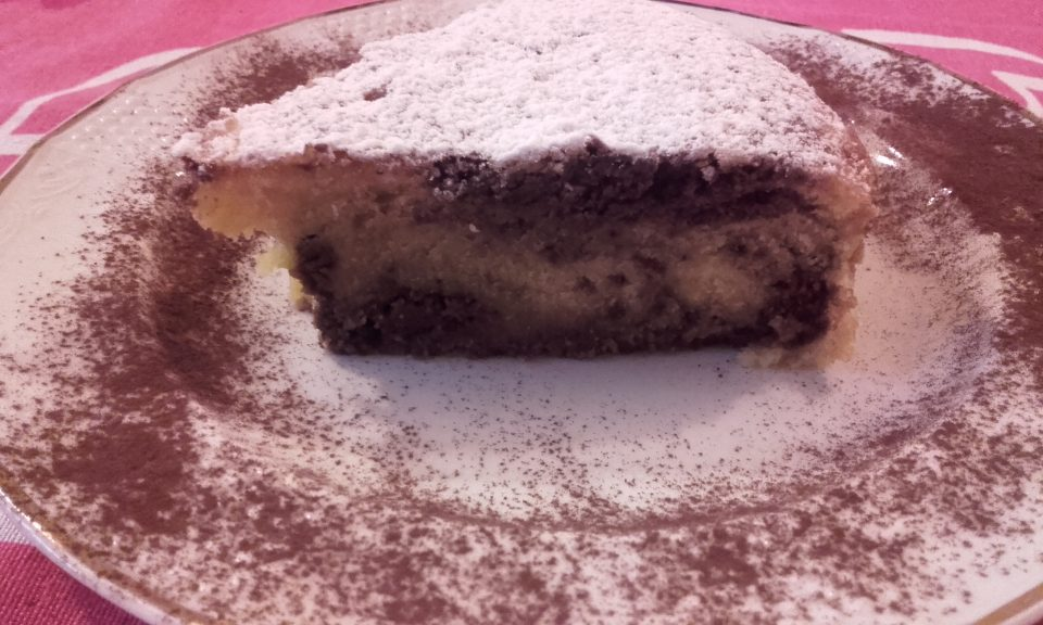 Torta cioccolatosa bicolore
