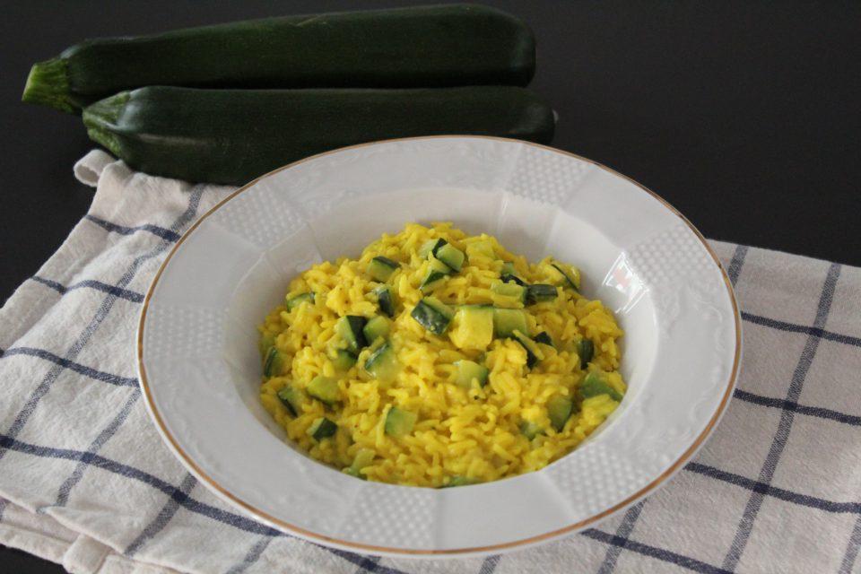 risotto zucchine,zafferano e philadelphia