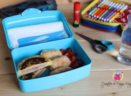 Mini-menù completo per il pranzo scolastico