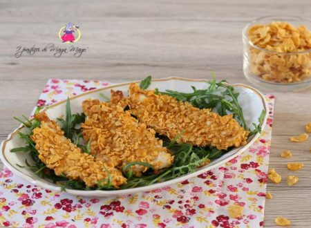 Pollo con panatura di corn flakes