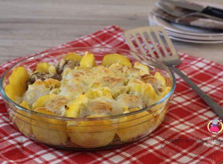 Polpette con patate gratinate