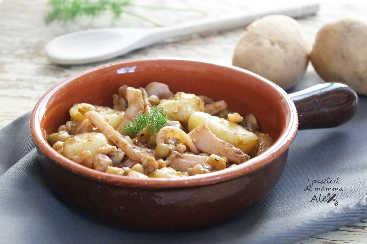 Seppie piselli e patate