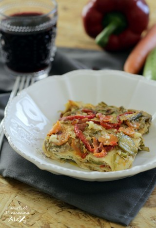 Lasagne di crespelle alle verdure e gorgonzola