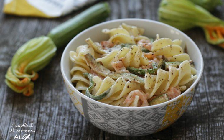 Pasta fredda con verdure stufate