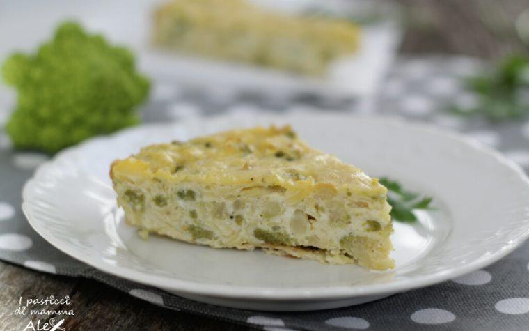 Frittata di patate al forno con ricotta e broccoli