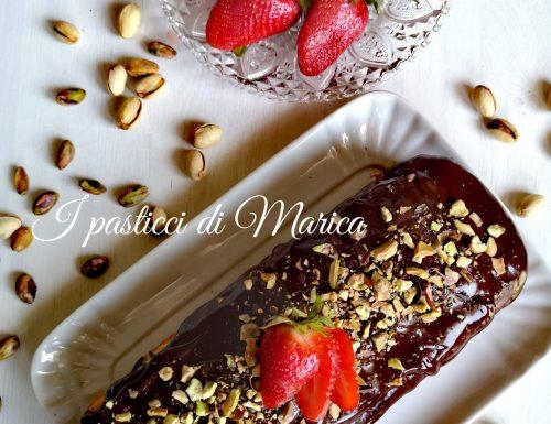 Plumcake con topping al cioccolato