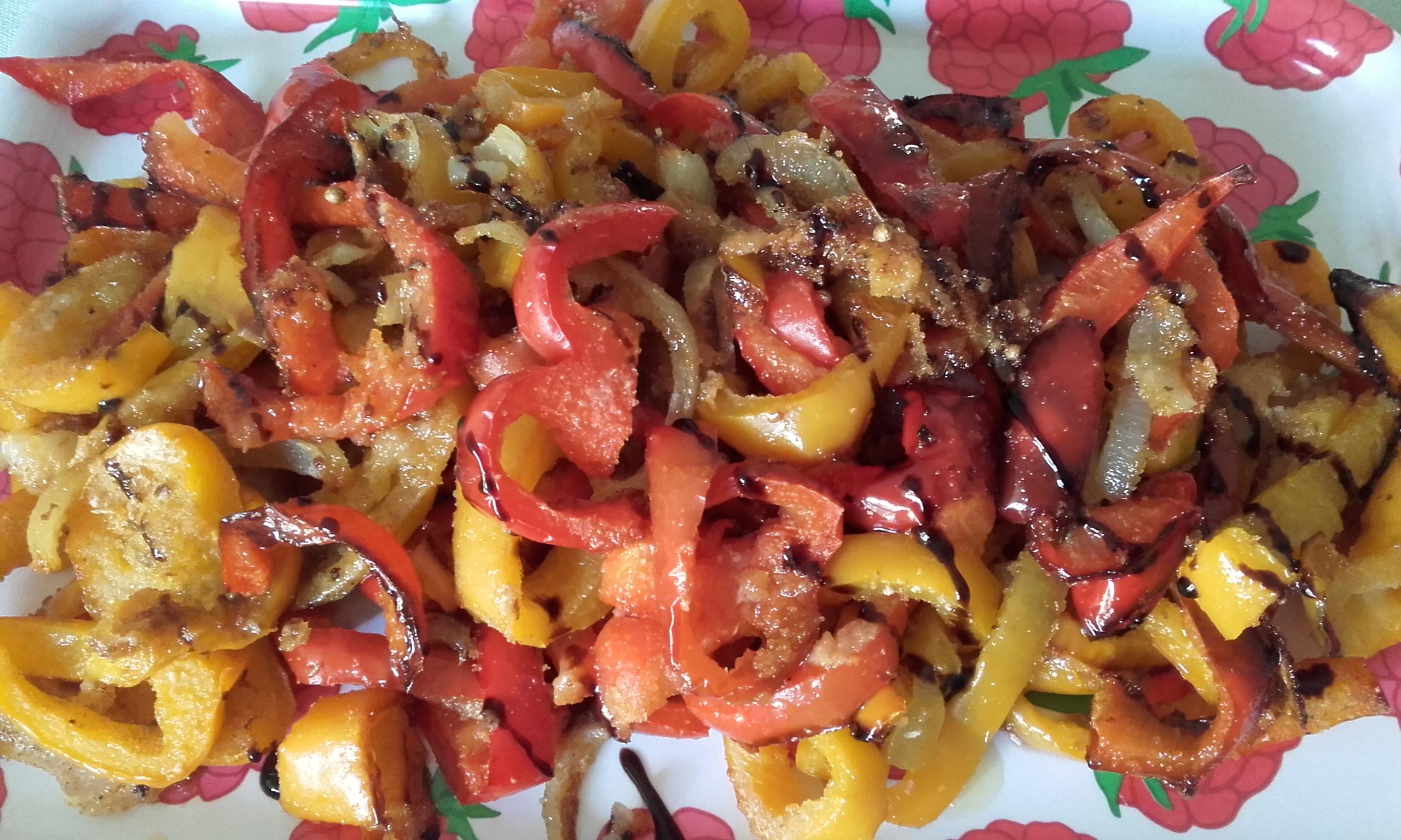 Peperoni in agrodolce al forno