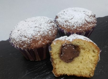 Muffin allo yogurt e nutella