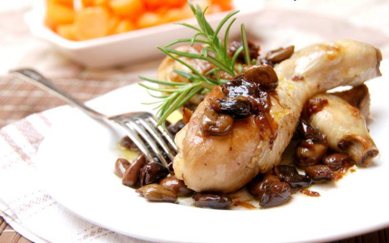 Pollo con olive taggiasche