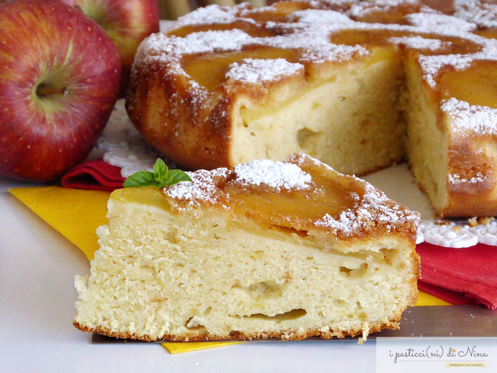 torta rovesciata di mele e yogurt