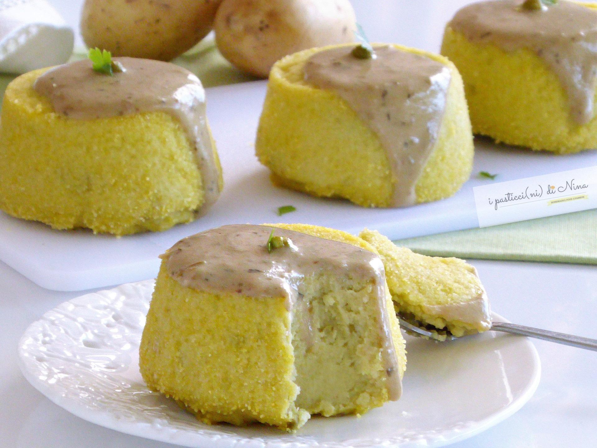 sformatini di patate e piselli