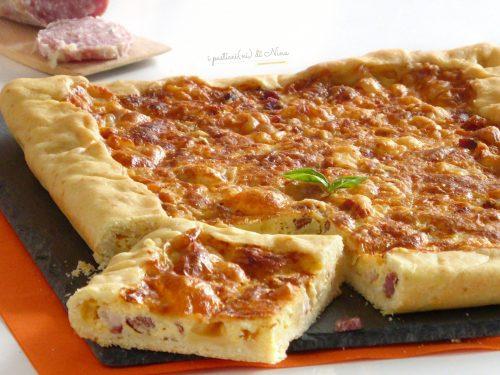 TORTA SALATA SEMPLICE CON SALAME E PANCETTA