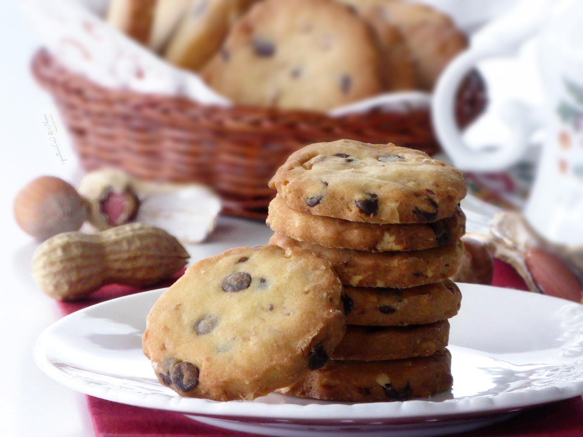 biscotti con frutta secca e cioccolato