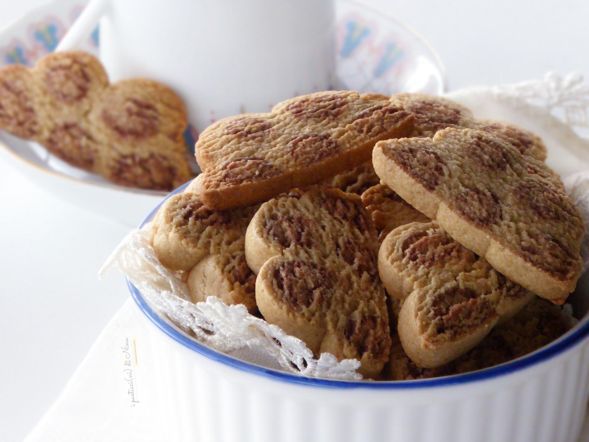 biscotti leopardati con farina di avena