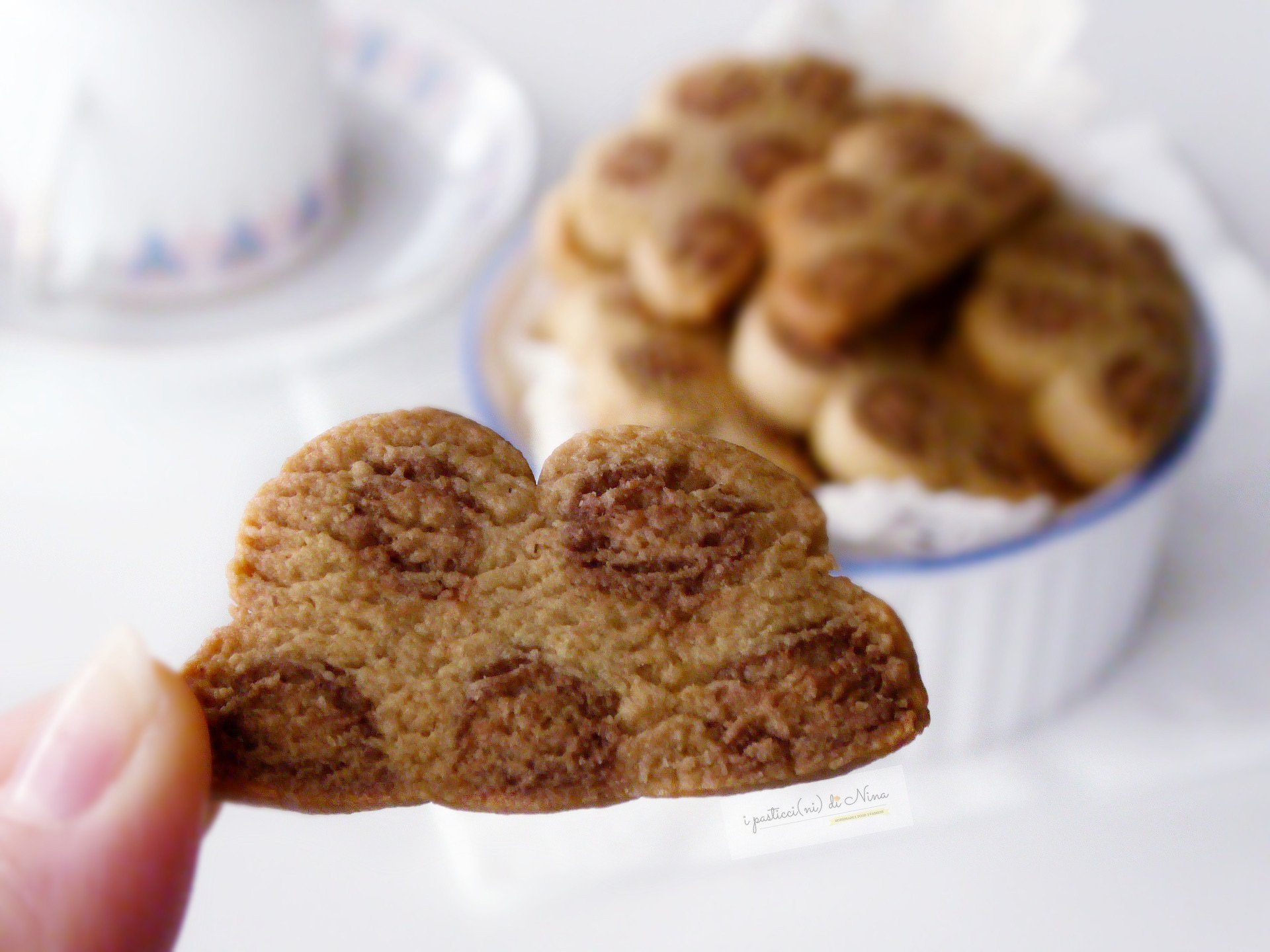 biscotti ricchi di fibre con farina d'avena effetto maculato