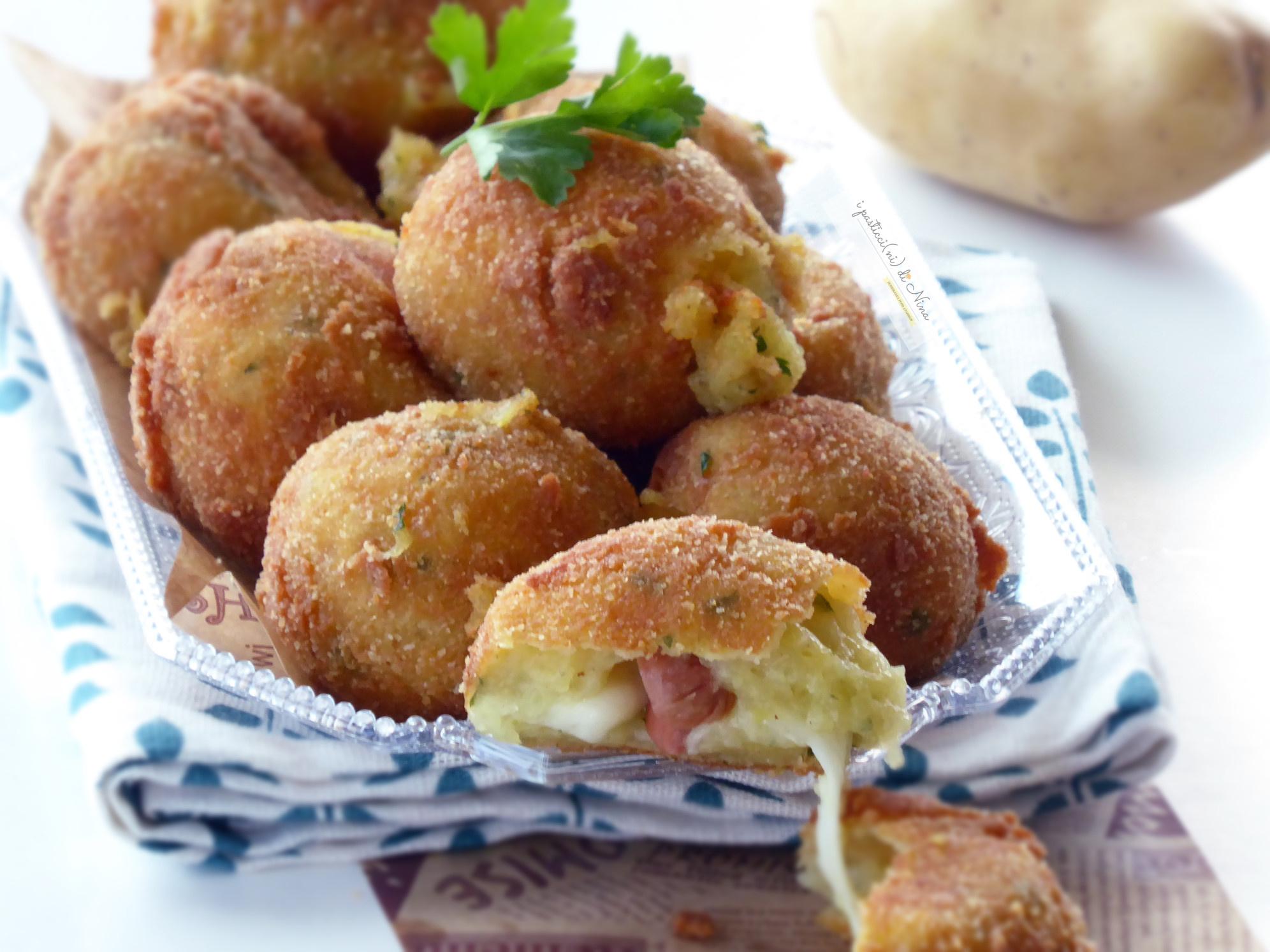 polpette di patate ripiene dal cuore filante