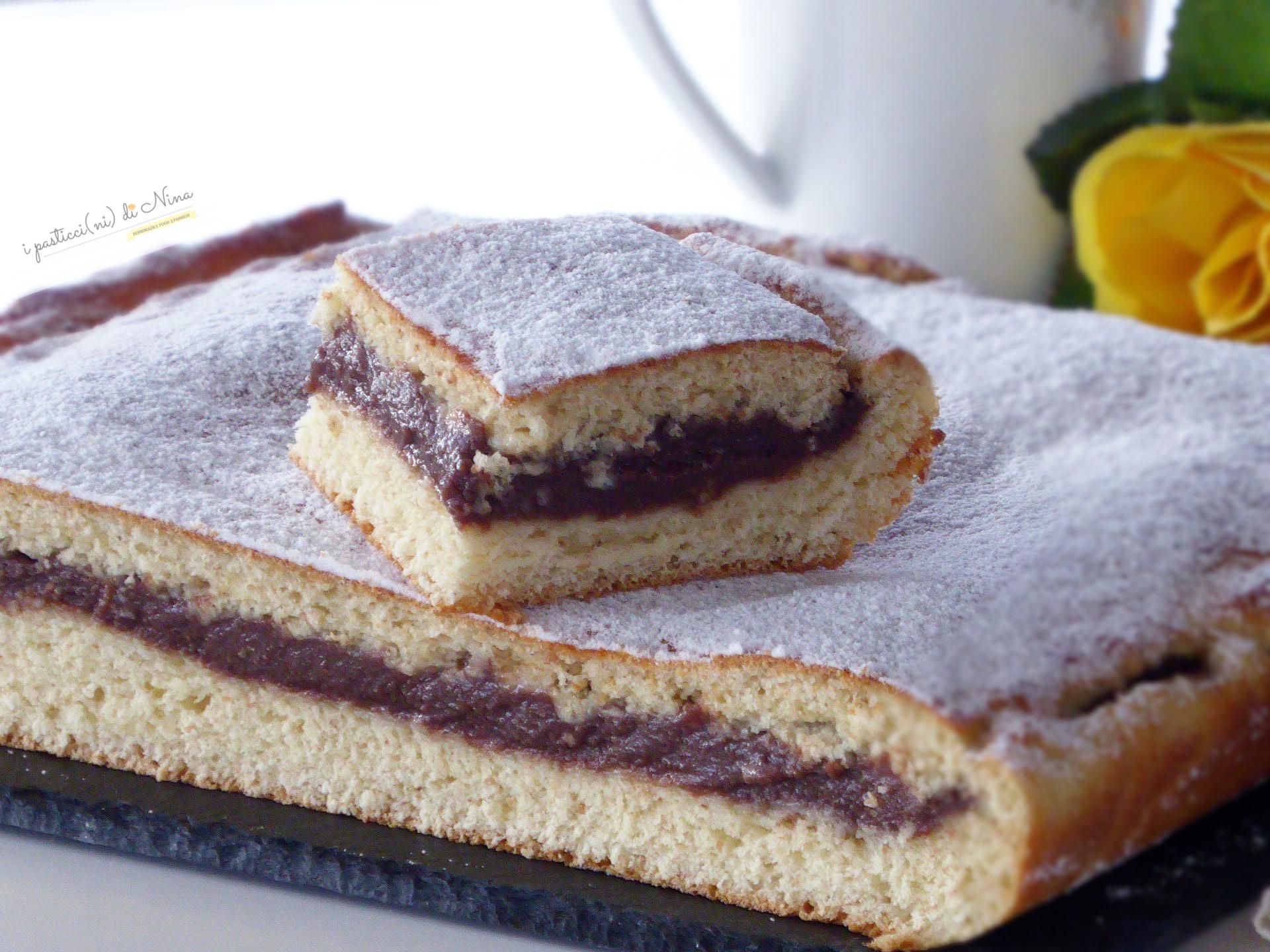 Torta brioche impasto integrale con crema pasticcera al cioccolato